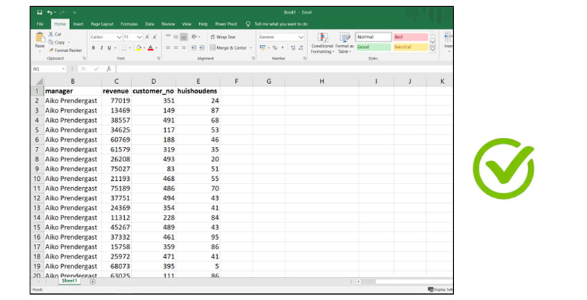 Create maps from data - Good Excel File