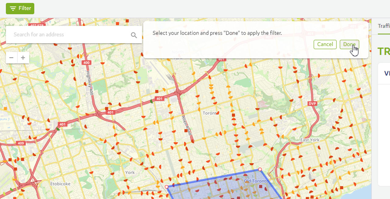 Dashboard Filters - Create filter by drawing on the map