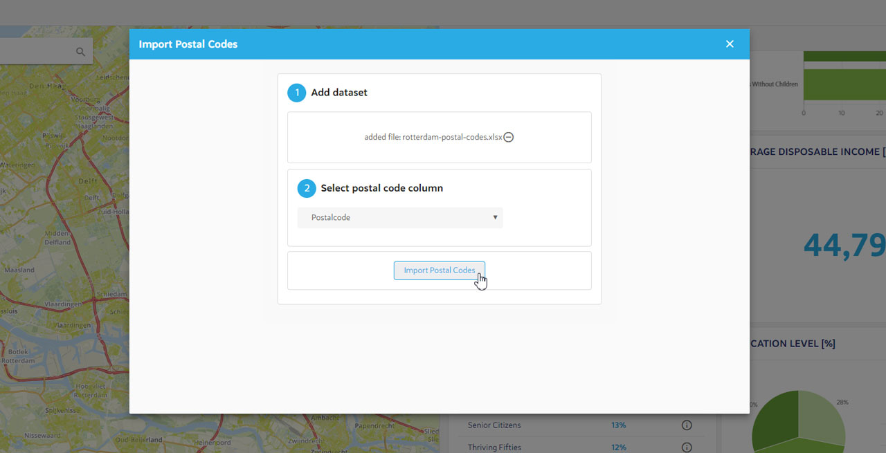 Dashboard Filters - Create filter with list of postal codes