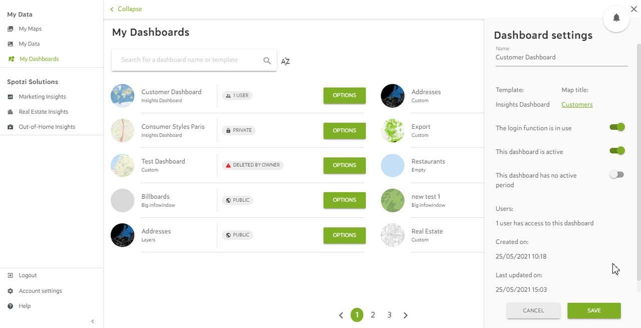 Dashboard Management