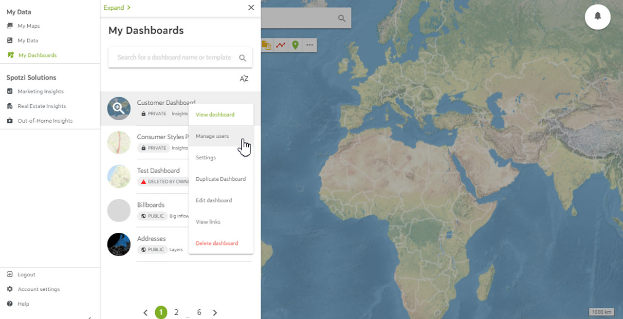 Adding Users to a Dashboard