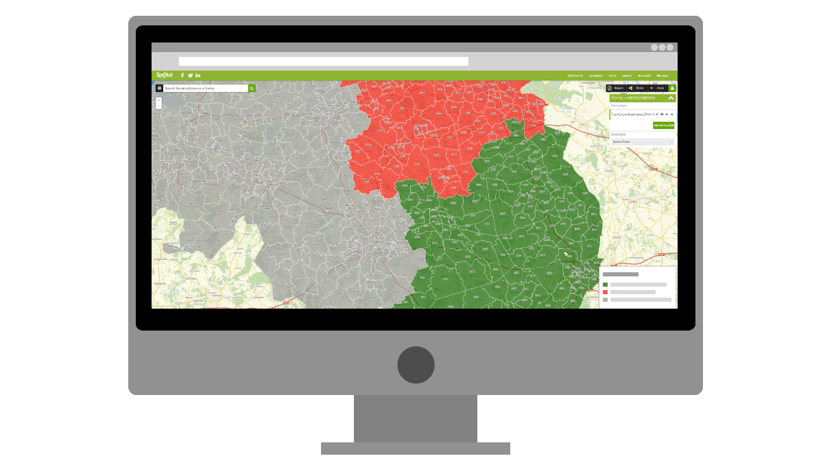 Visualize business areas on the map with intelligent styling options