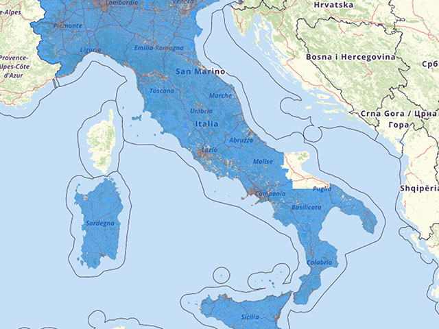 Population density Italy Map
