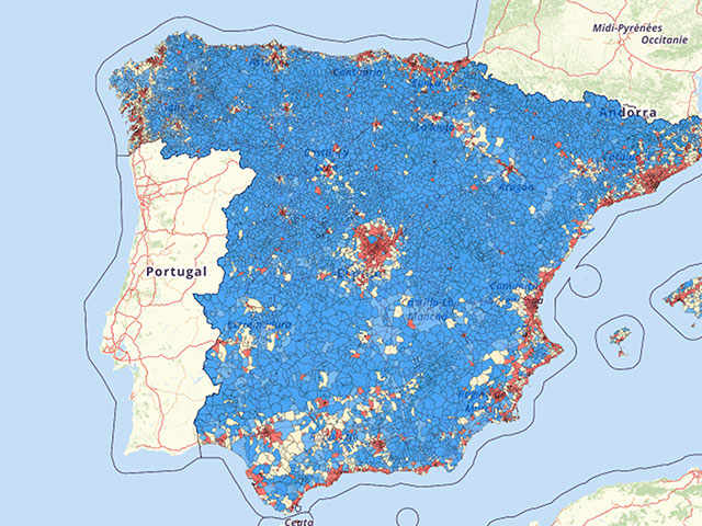 Population density Spain Map