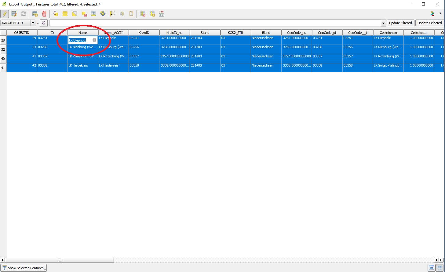 QGIS Multi Feature