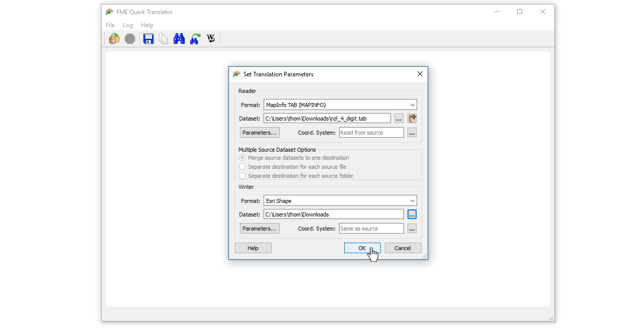 Convert Mapinfo Files to Shapefile