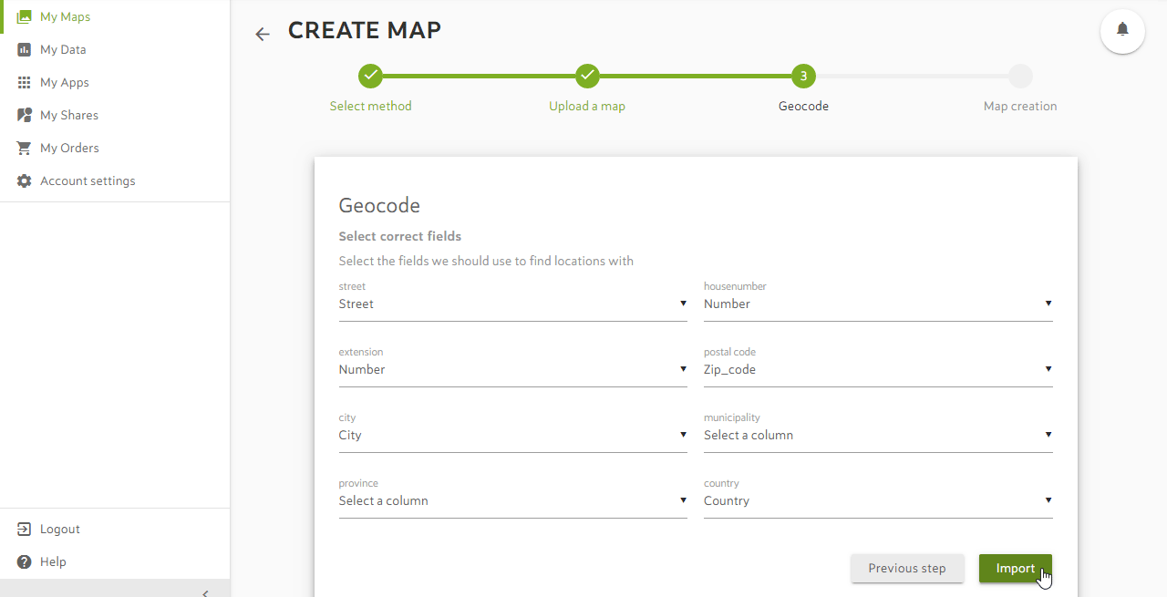 Create a Map from a CSV with Adresses
