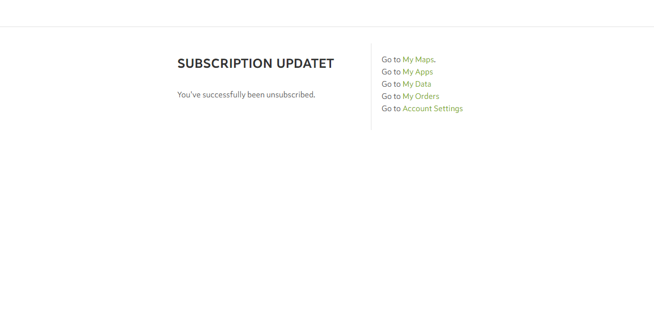 Unsubscribe from Spotzi Emails