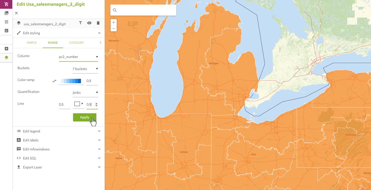 Range Map Styling