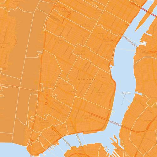 zip code areas map