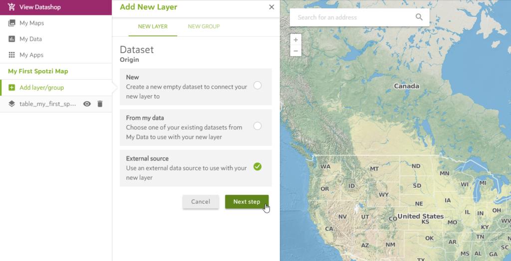 Adding an External Map Layer