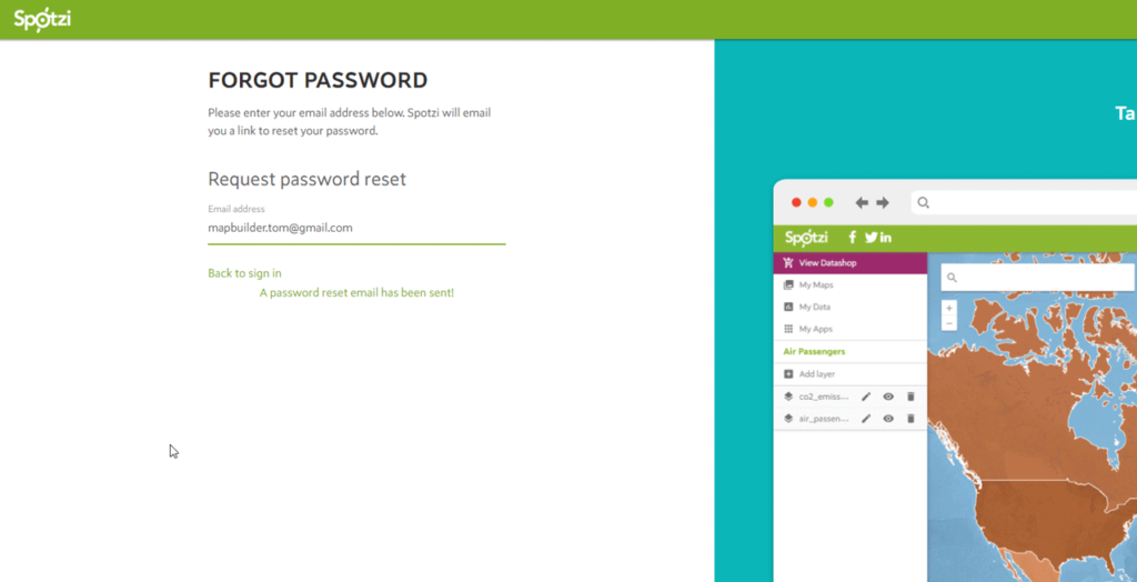 Forgot Password Spotzi